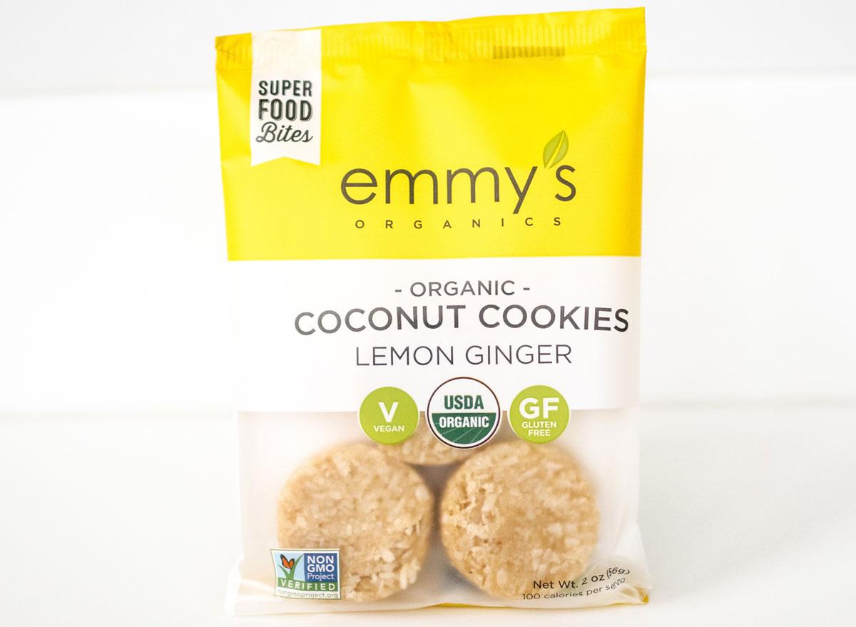 Emmys organic lemon ginger coconut cookies