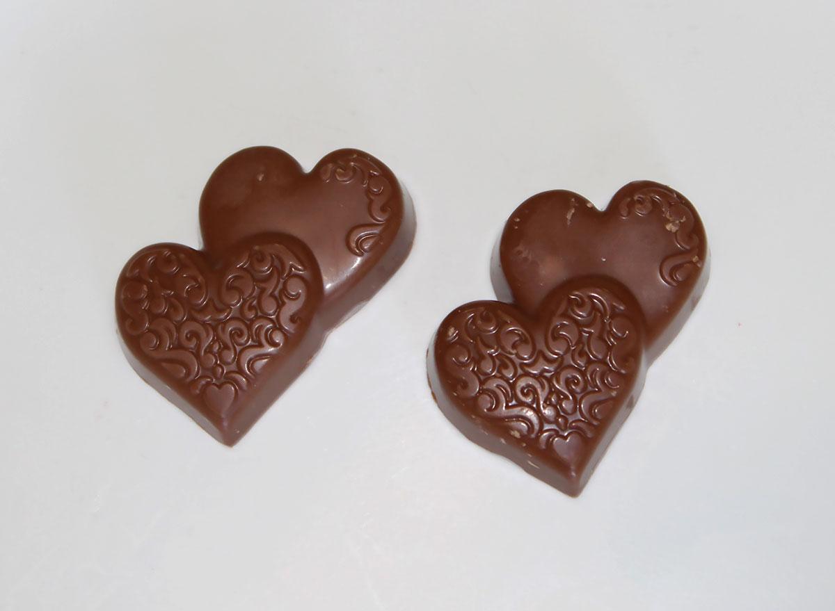 Ghiradelli milk chocolate caramel duet hearts