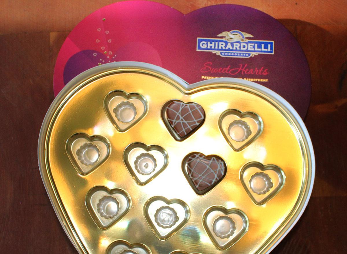 Ghiradelli sweet hearts heart-shaped box