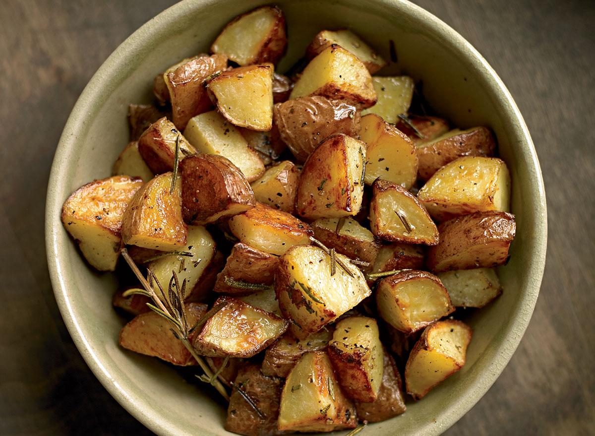 Gluten-free crispy rosemary potatoes