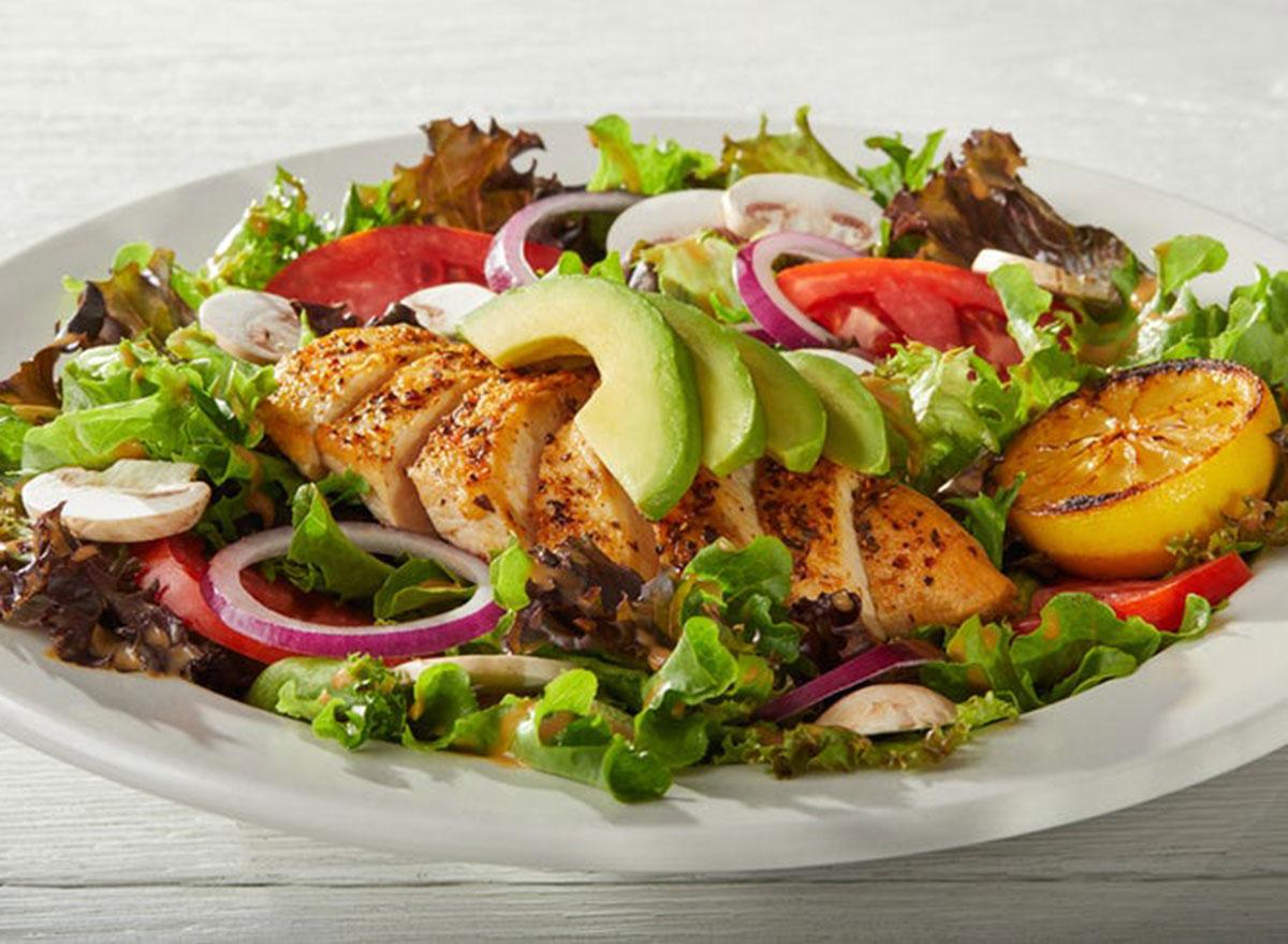 Grilled chicken veggie salad