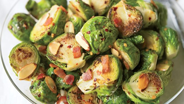 Healthy brussels and bacon