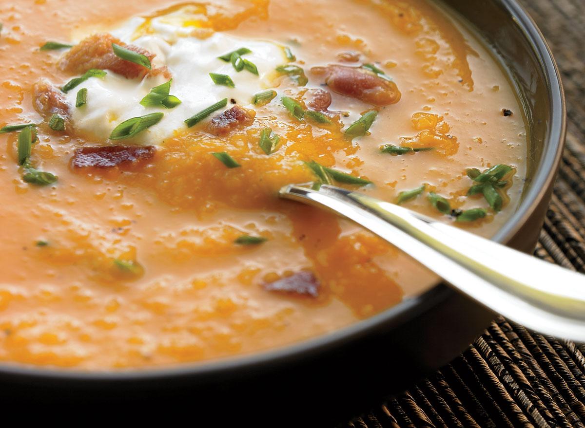 Healthy butternut squash soup
