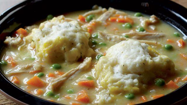 Healthy chicken and dumplings