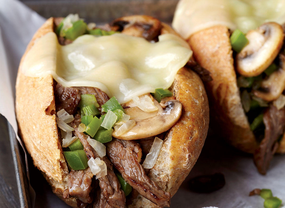 Healthy philly cheesesteak