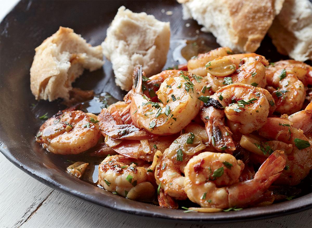 Healthy spanish garlic shrimp