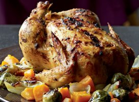 Healthy sunday roast chicken