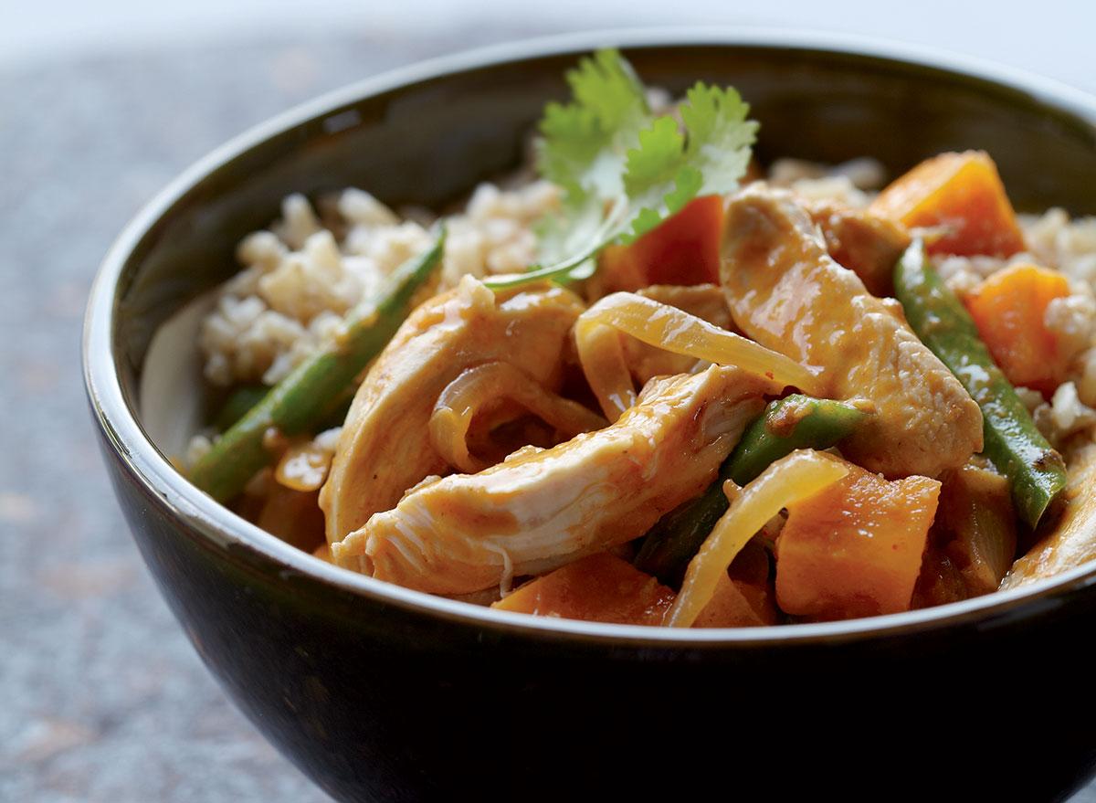 Healthy thai chicken curry