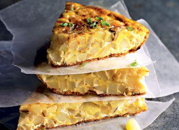 Healthy tortilla española