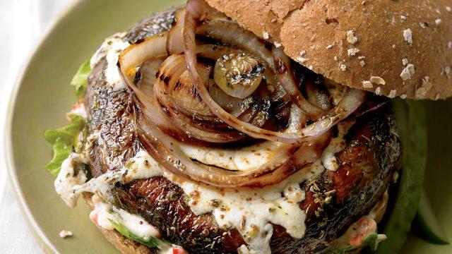 Vegetarian mushroom melts
