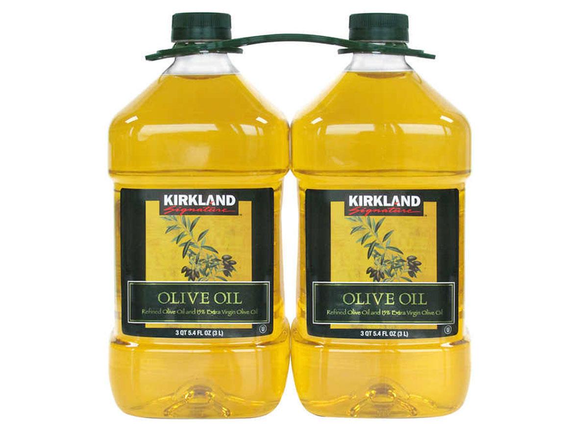 Kirkland olive oil bottles