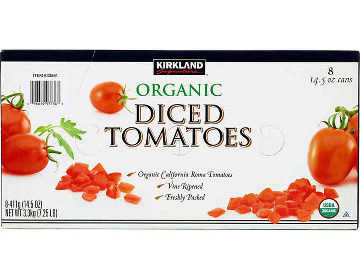 Kirkland organic diced tomatoes