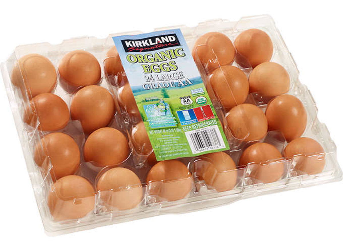 Kirkland organic eggs carton
