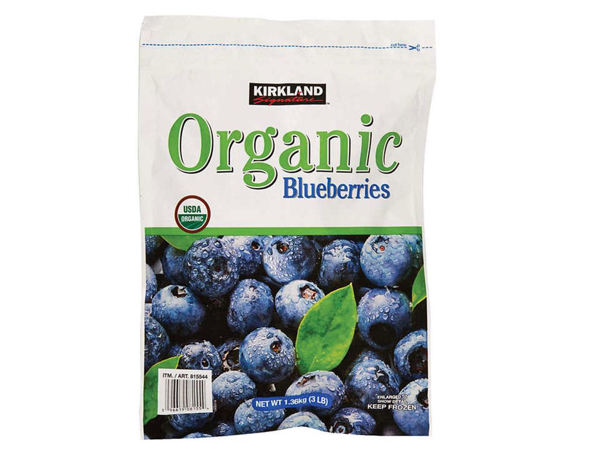 Kirkland organic frozen blueberries