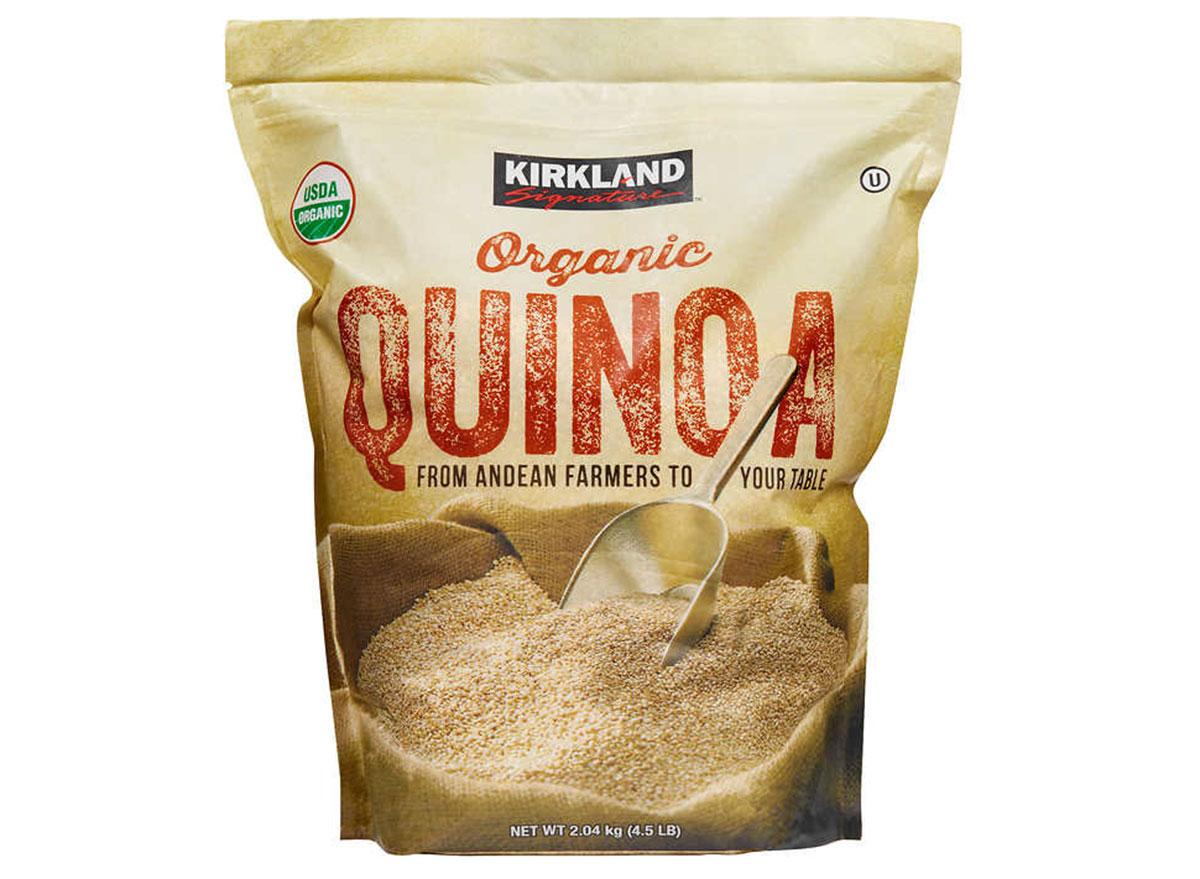 Kirkland organic quinoa bag