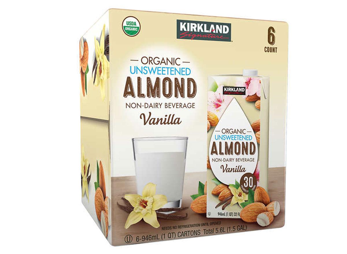 Kirkland organic unsweetened almond non dairy beverage