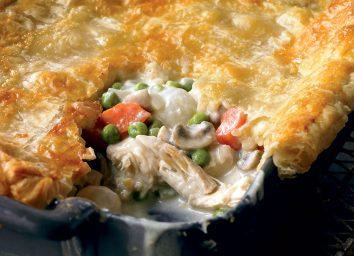 Low-calorie chicken pot pie