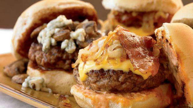 Low-calorie sliders 2 ways