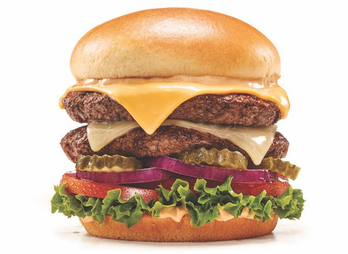Mega monster cheeseburger