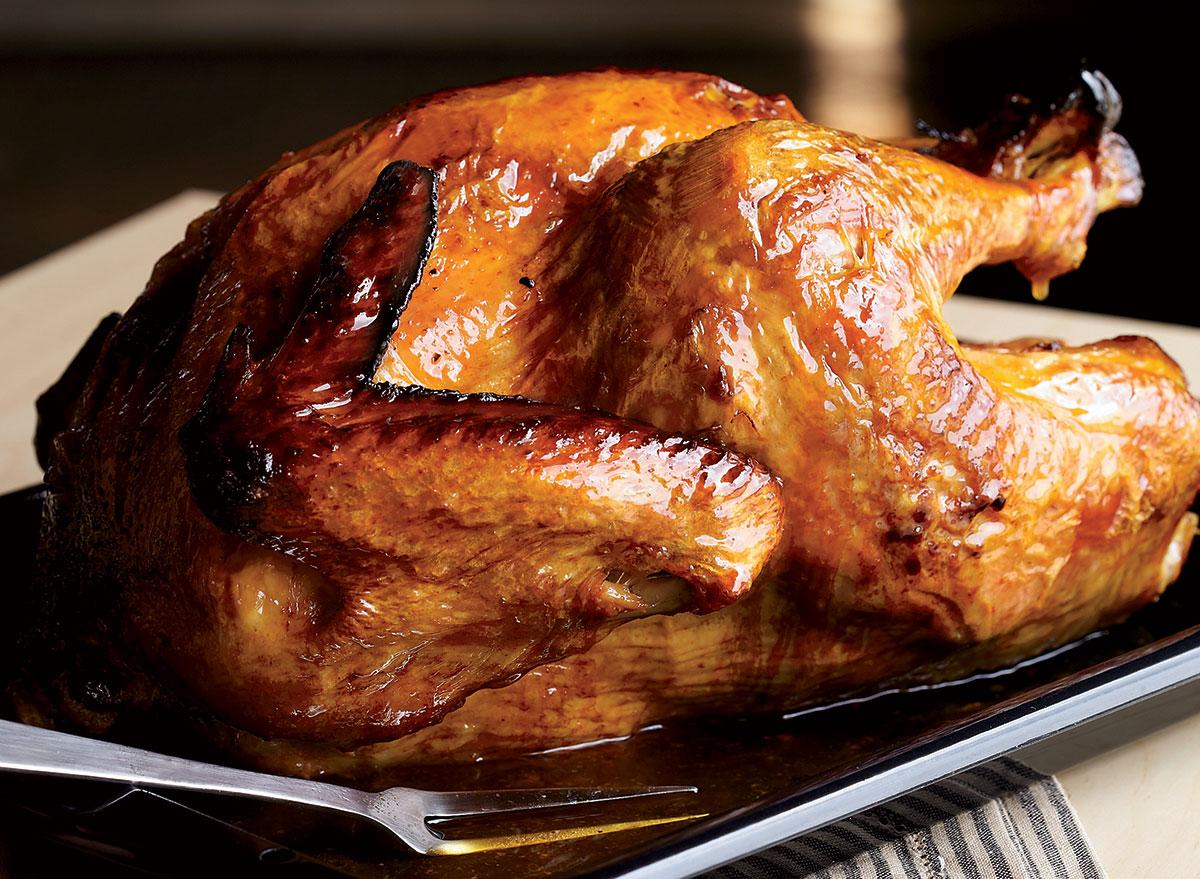 Paleo 90 minute roasted turkey with orange cranberry relish