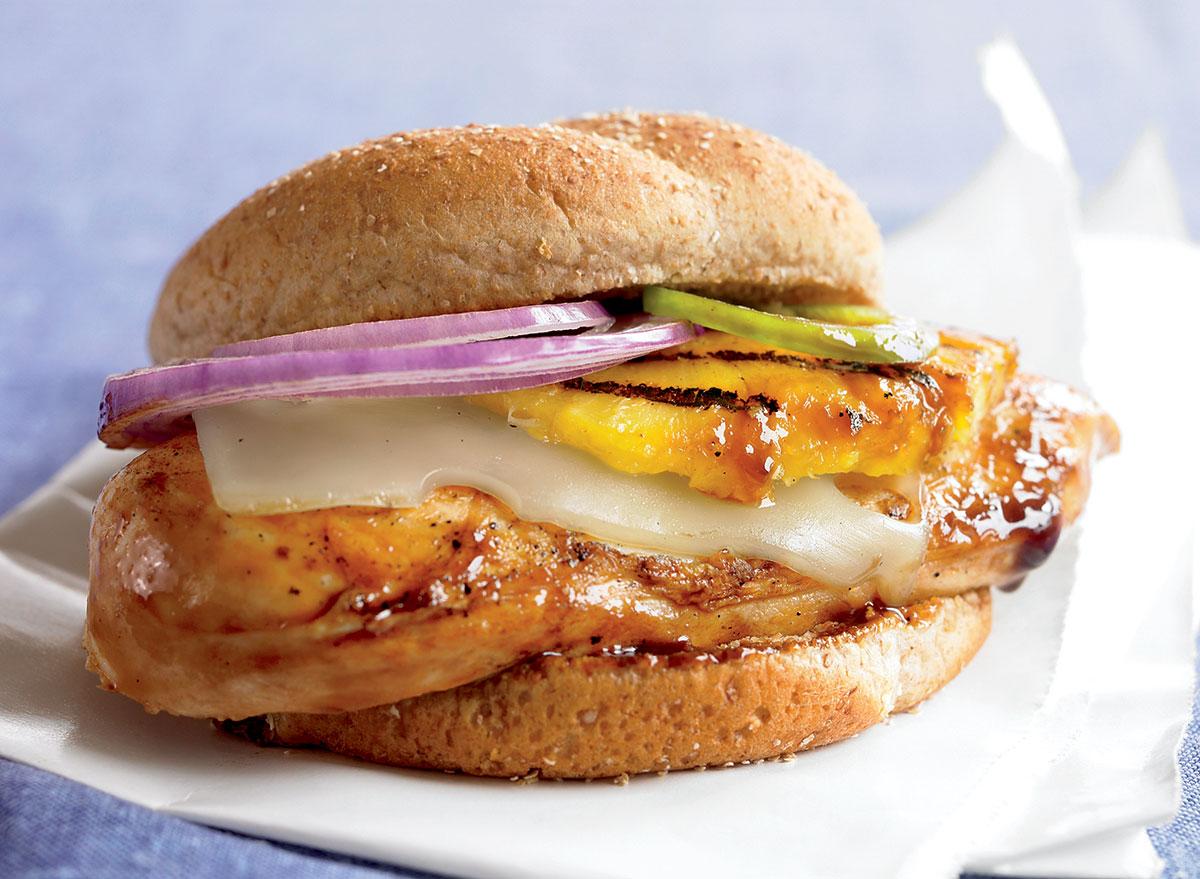 Paleo grilled chicken pineapple sandwich