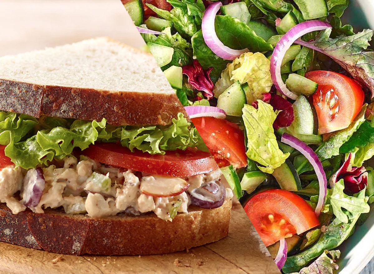 Panera low sodium order napa chicken sandwich seasonal greens salad