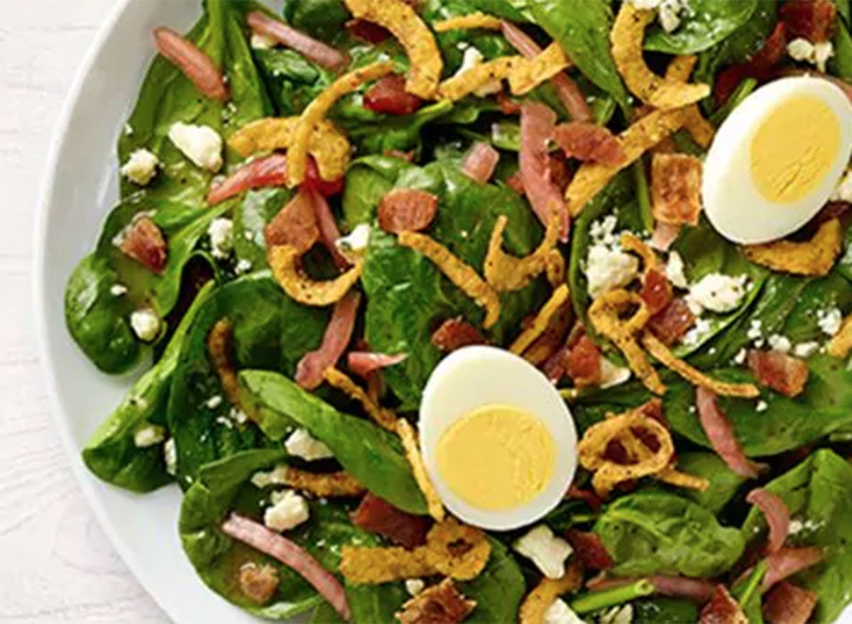 Panera spinach, bacon & poppyseed salad