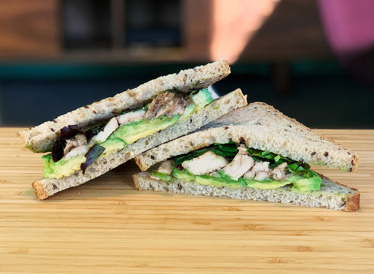 Balsamic chicken avocado sandwich