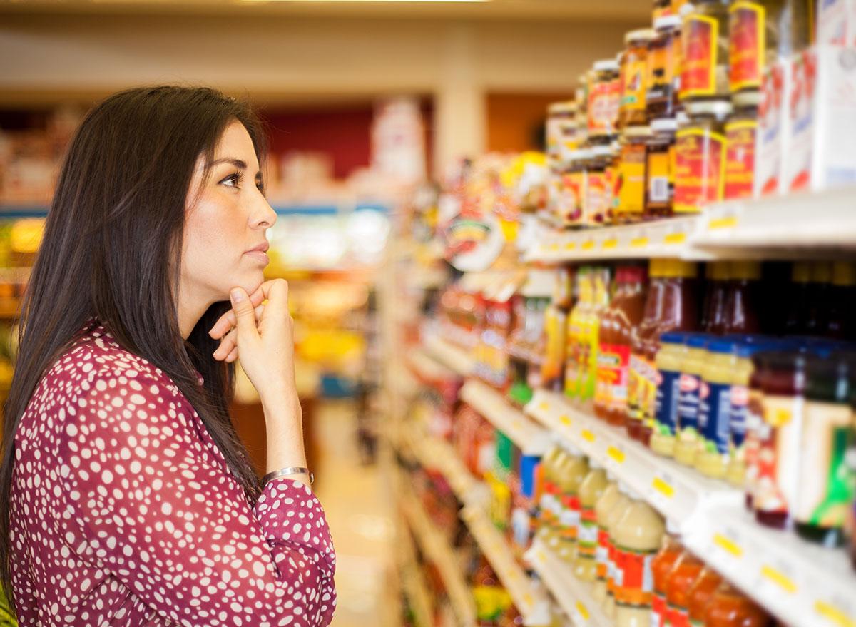 Shopping shelf food