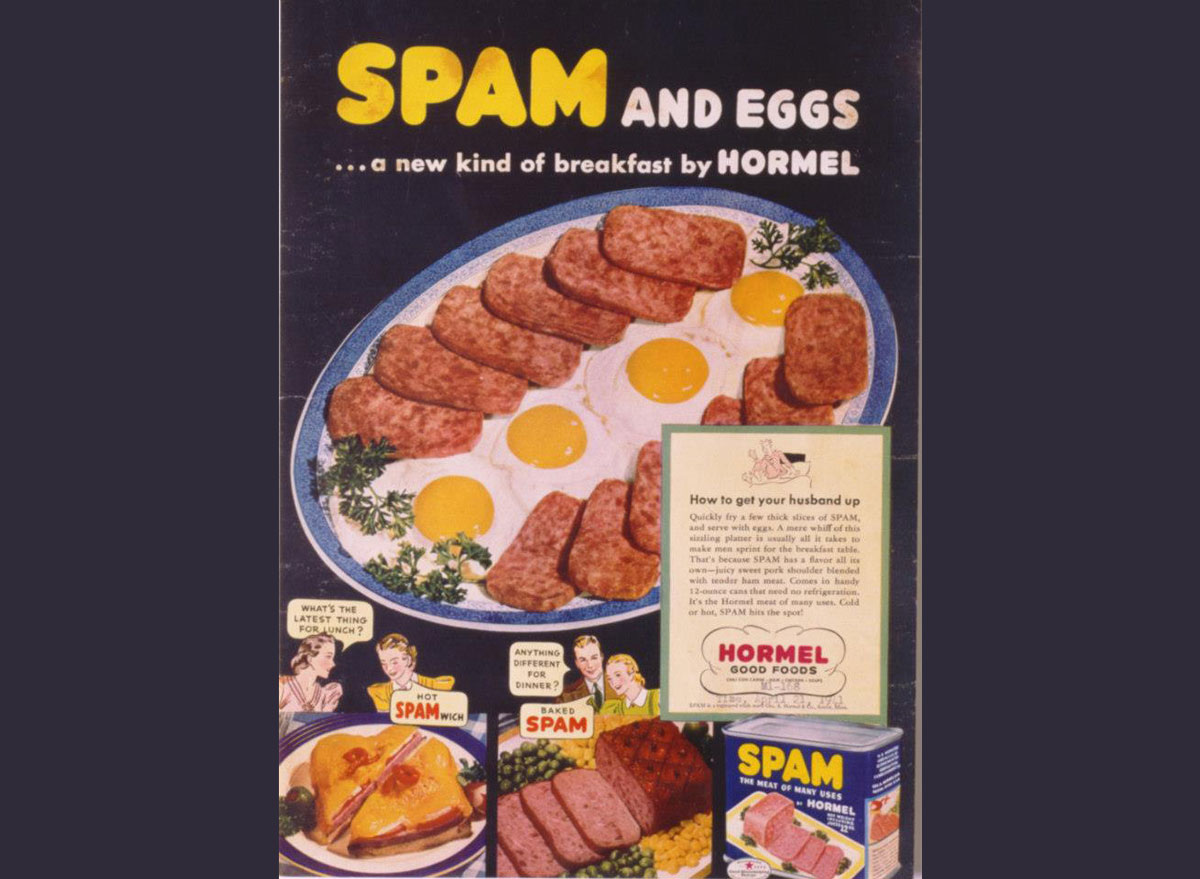 Spam and eggs breakfast