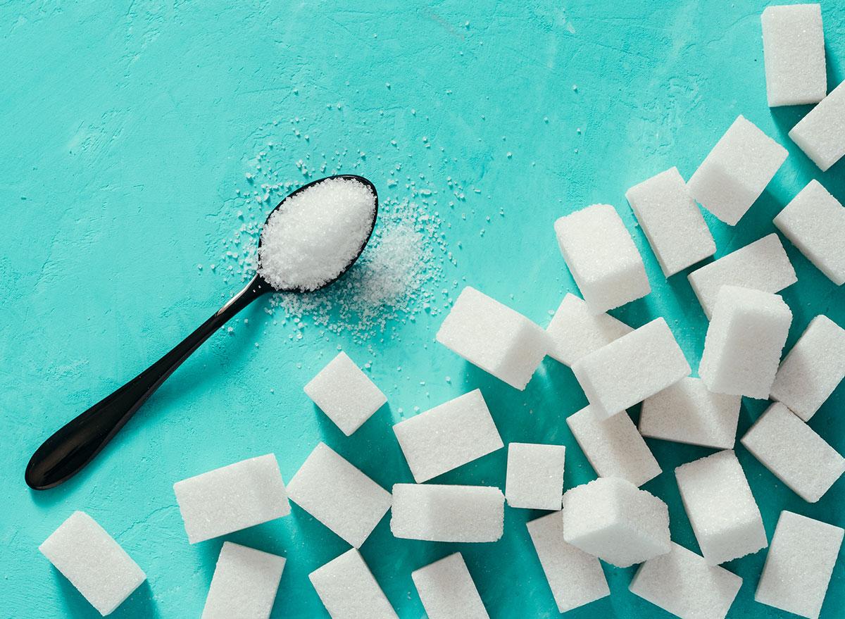 Sugar on background