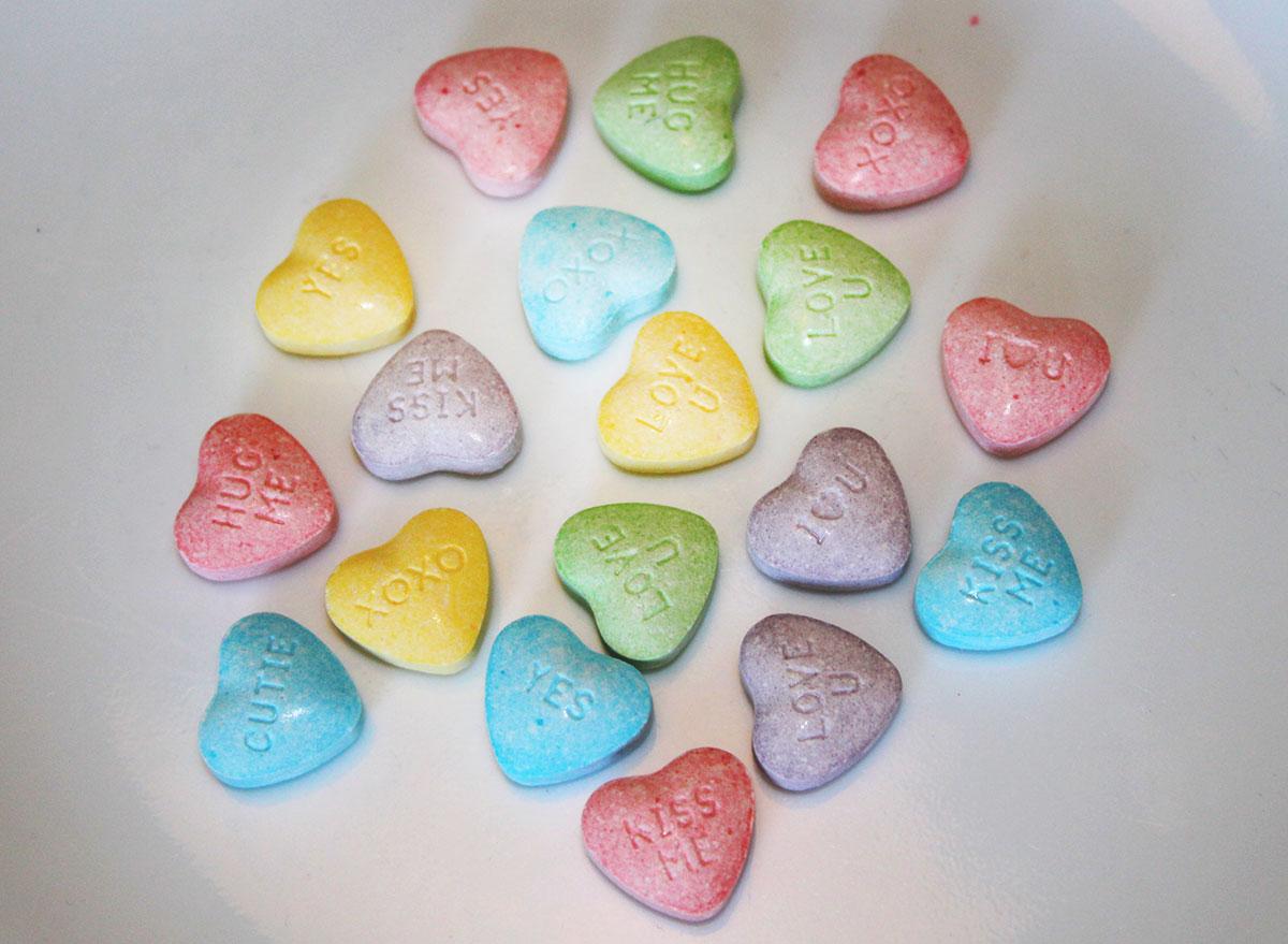 Sweet-tart hearts