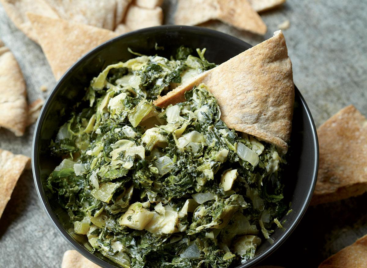 Vegetarian artichoke dip