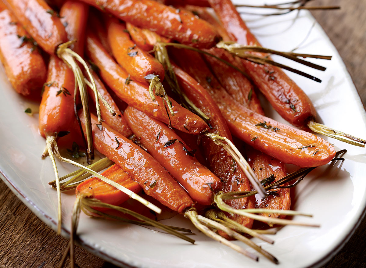 Vegetarian honey roasted carrots
