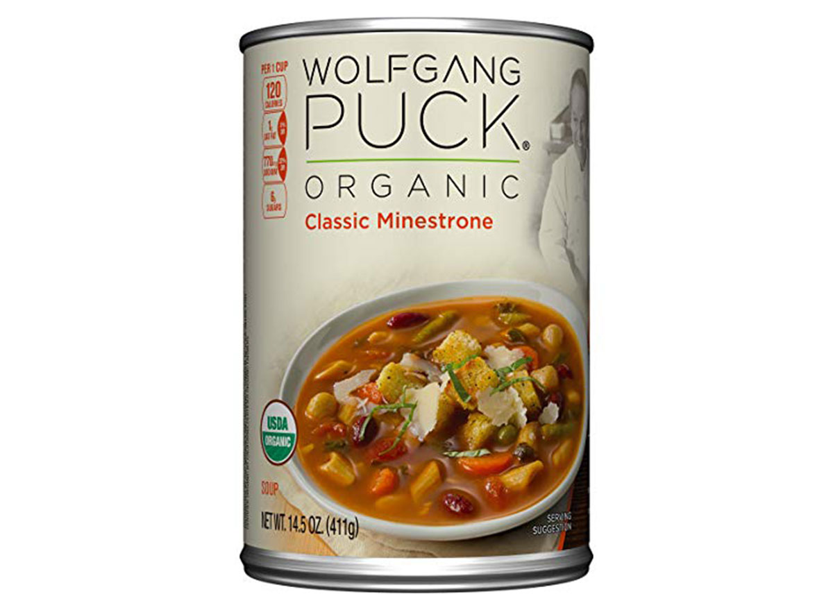 Wolfgang puck organic minestrone soup can
