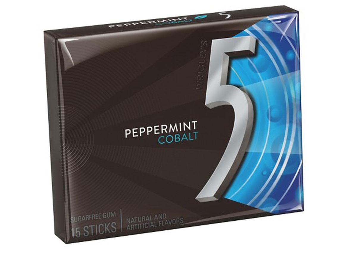 5 peppermint cobalt gum pack