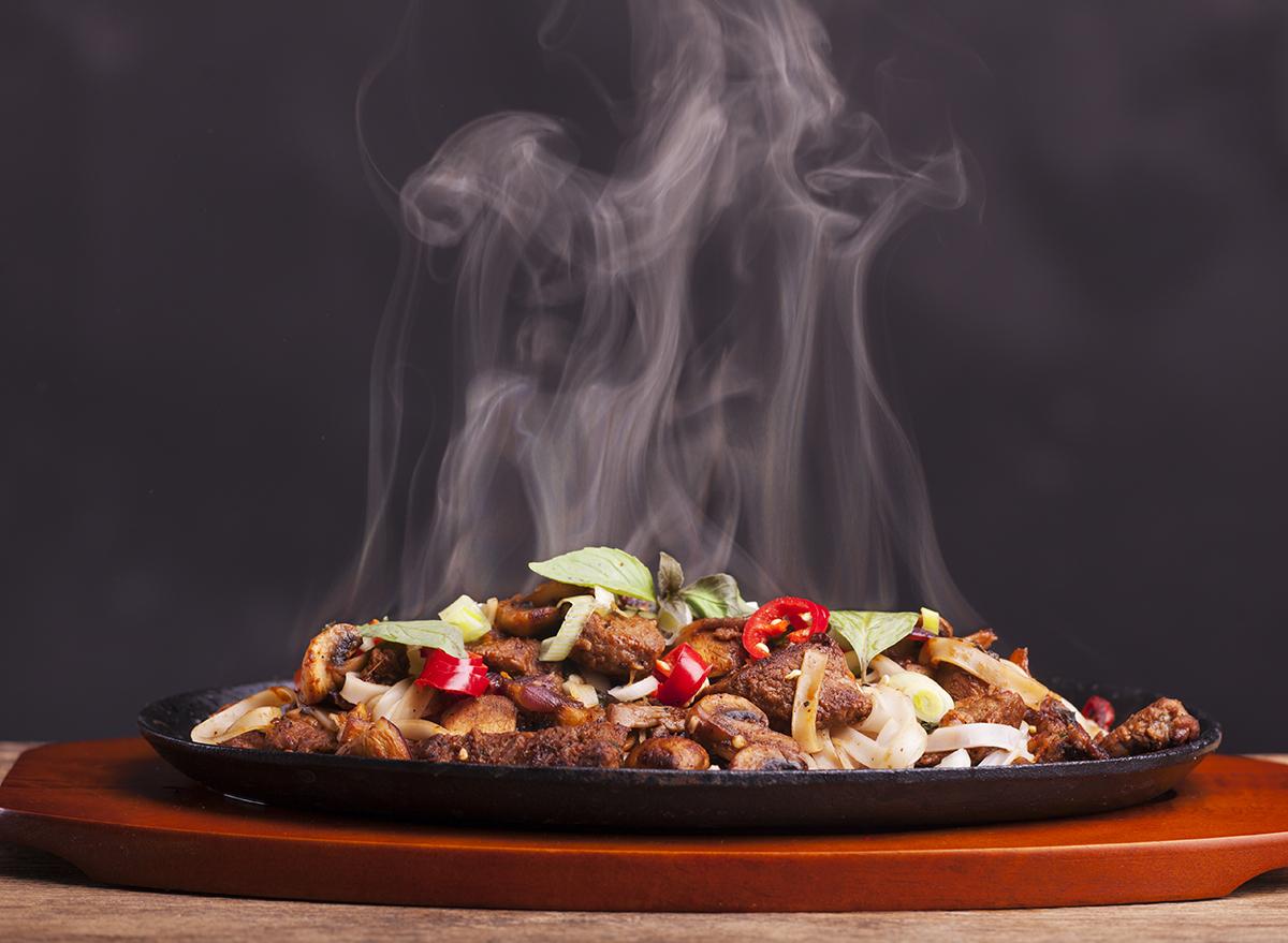 Steaming-food