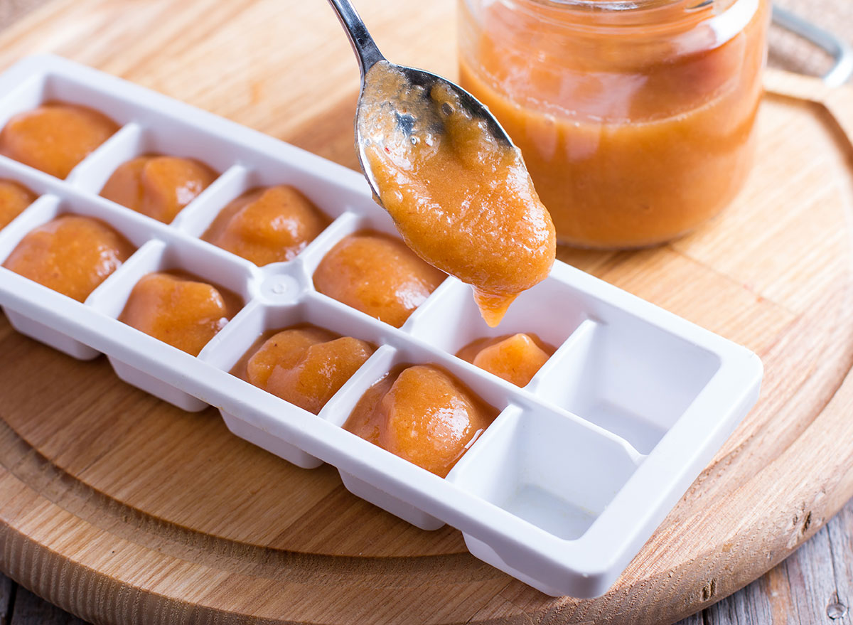 Baby food ice cubes