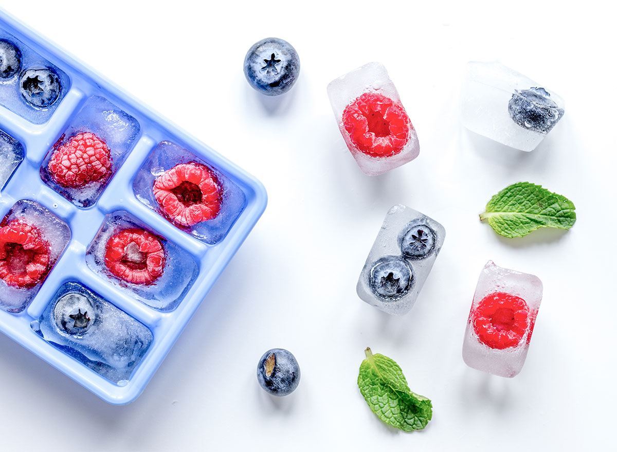 Berry ice cubes