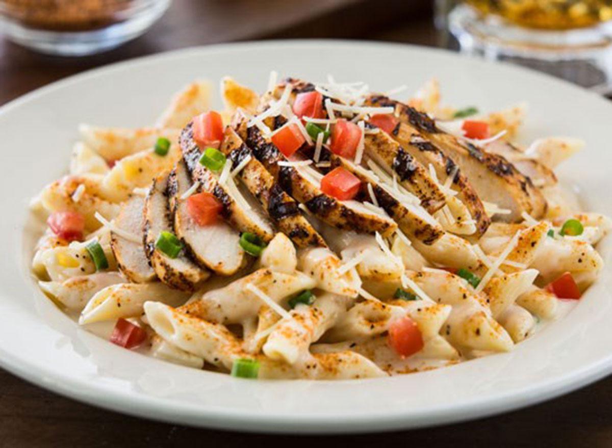 Cajun pasta with grilled chicken