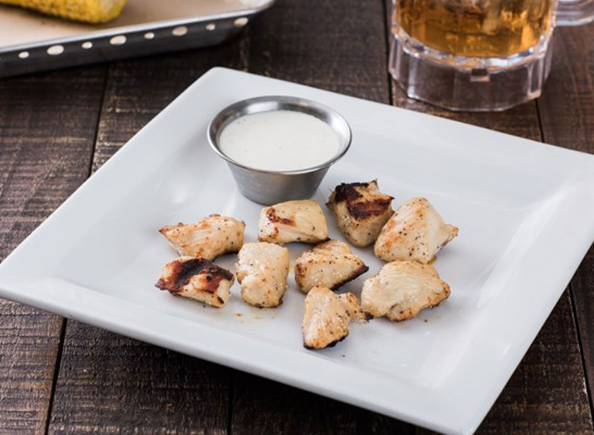 Grilled chicken dippers