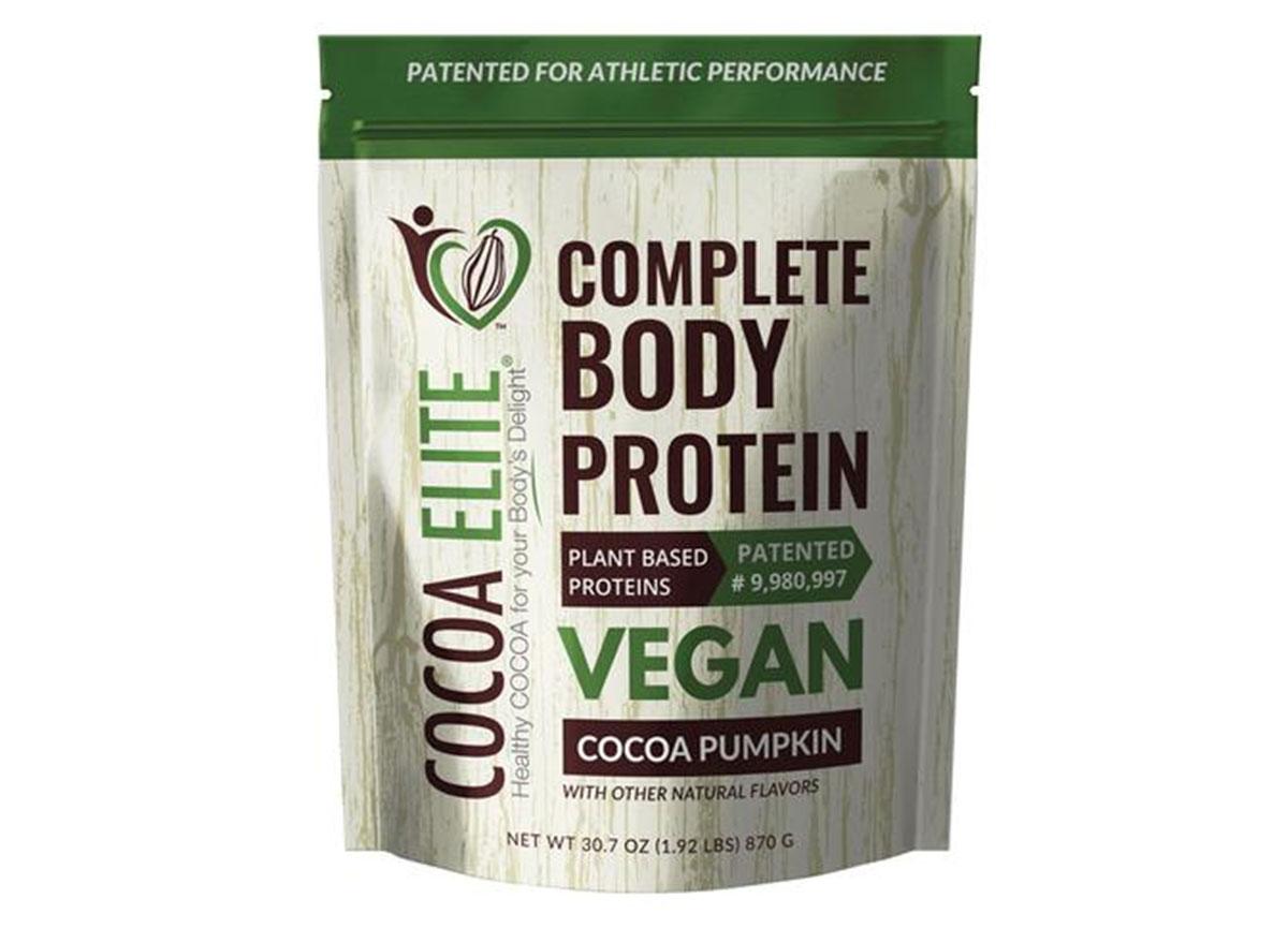 Cocoa elite vegan chocolate pumpkin protein powder