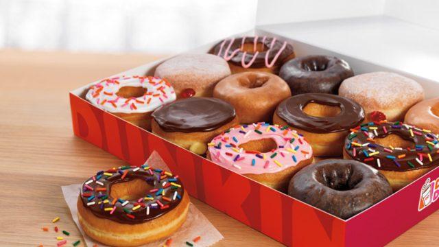 Dunkin' box of donuts