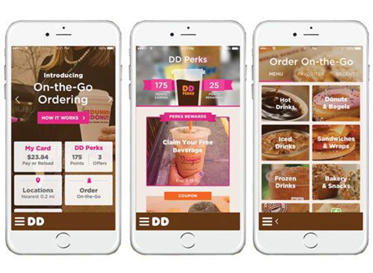 Dunkin donuts rewards app