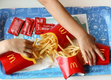 Eating mcdonalds fries