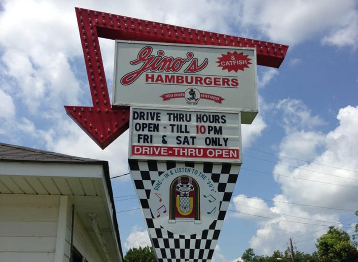 Gino's hamburgers