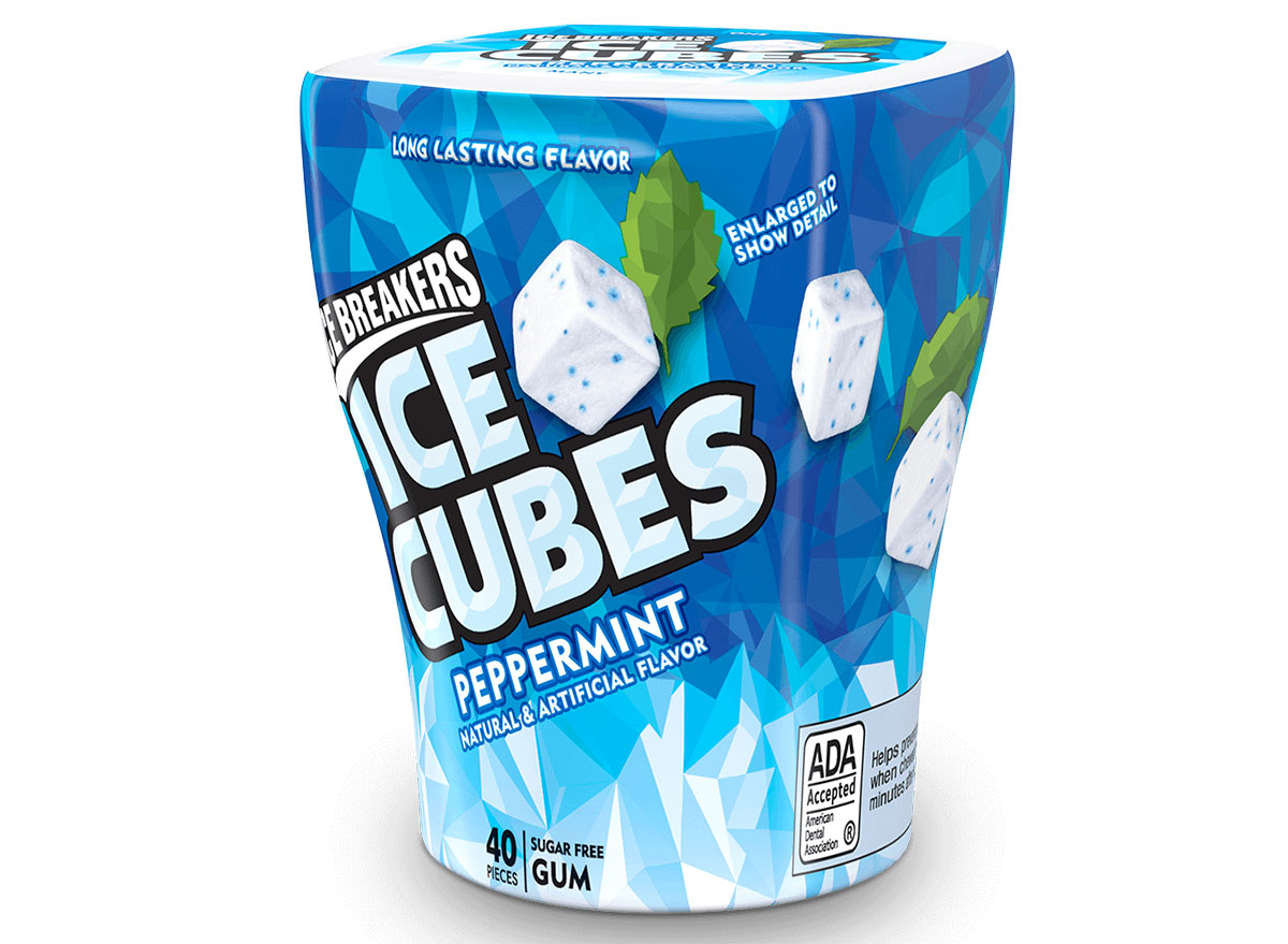 Ice breakers peppermint ice cubes gum