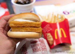 Mcdonald's filet o fish sandwich meal