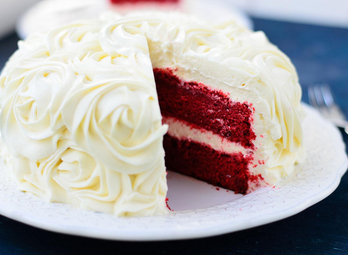 Modern red velvet cake