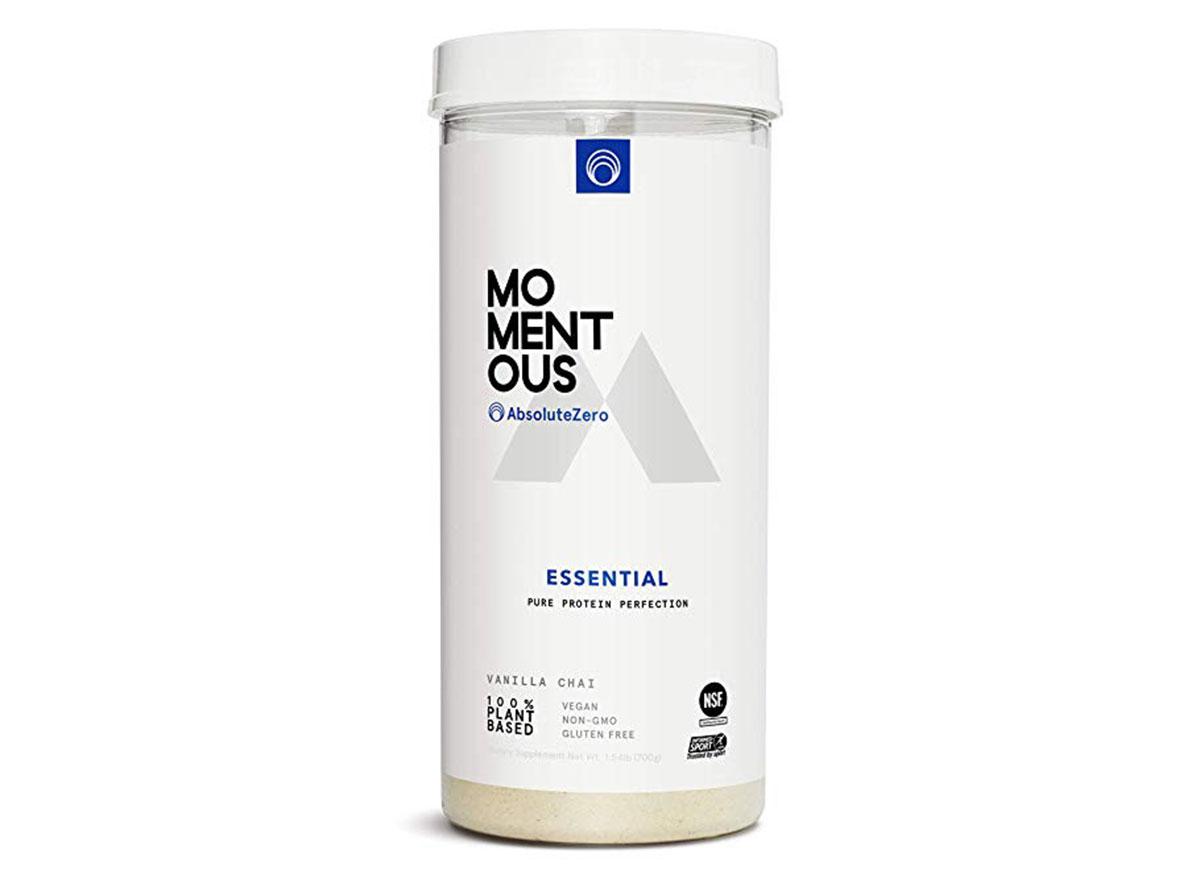 Momentous absolute zero and momentous absolute zero 100% plant based protein powder
